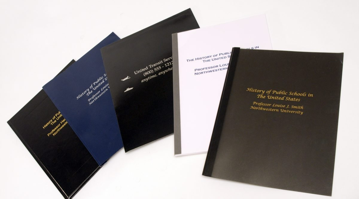 Hard and soft cover documents printed using Foil Xpress by ImPress Systems