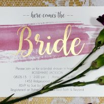 Here Comes the Bride Wedding Invitation printed on Foil Direct by ImPress Systems