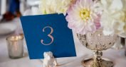Table Numbers for weddings foil printed on Foil Xpress by ImPress Systems