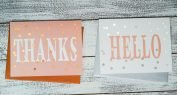 Thank you & stationery cards printed on Foil Direct by ImPress Systems