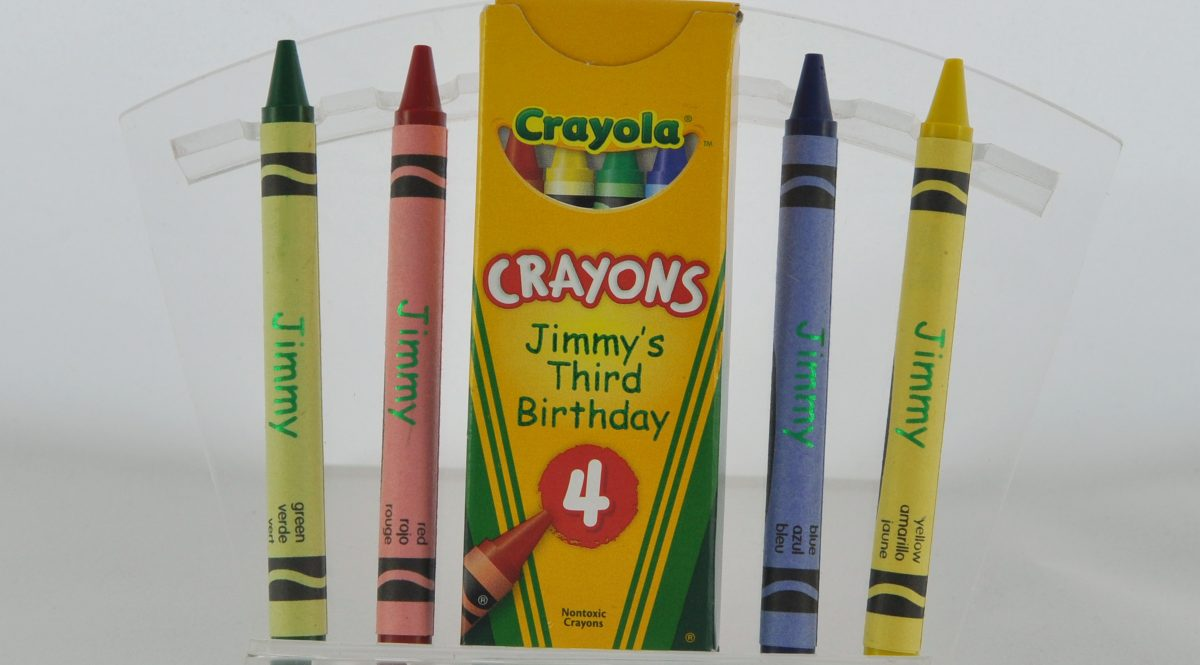 Crayons printed on Foil Xpress with Cyclone Cylinder Option