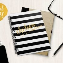 Solid stripes journal personalized on Foil Xpress by Impress Systems