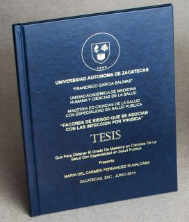 Thesis book cover printed in any language with Foil Xpress by ImPress Systems