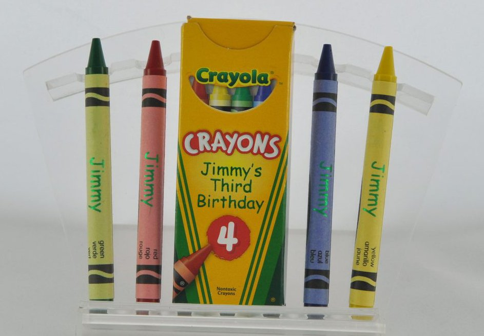 Crayons foil printed with Cyclone by ImPress Systems